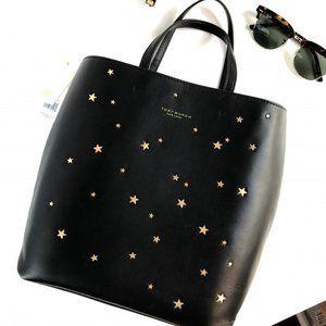 Tory Burch Tote Small Star Stud Leather Black